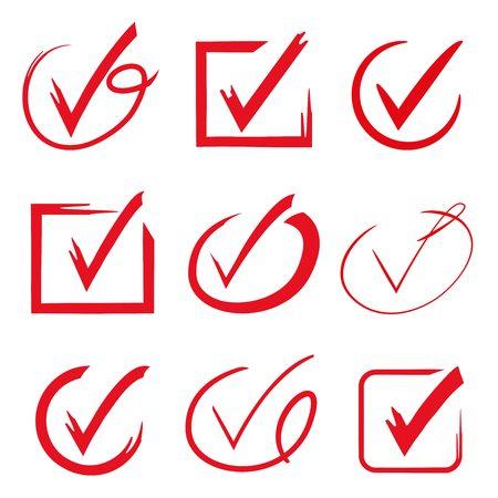marcas de verificación