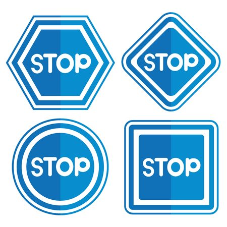 stop signs: stop signs Illustration