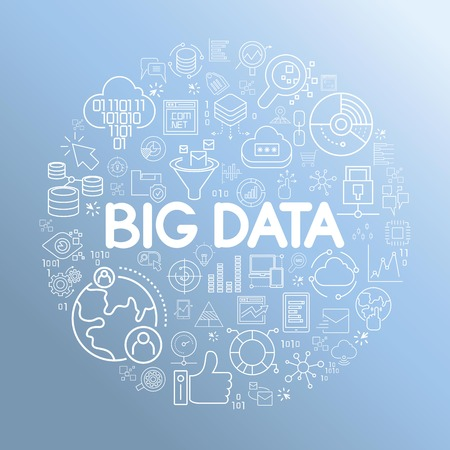 big data and network, information technology concept