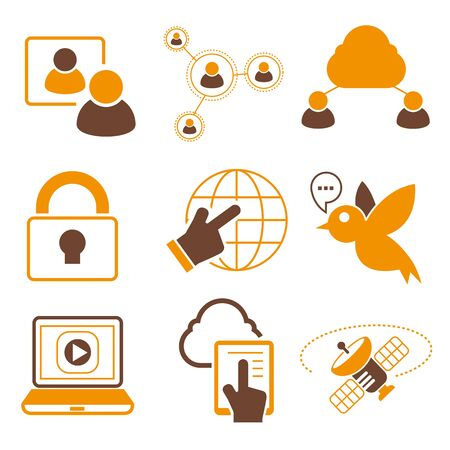 sattelite: social media icons