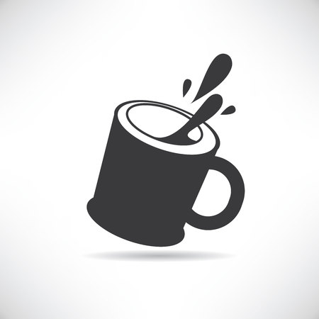 protein food: milk cup Illustration