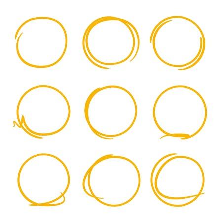 highlighter: marker circles, highlighter element Illustration