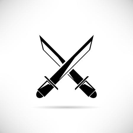 swordsmanship: crossing swords Illustration