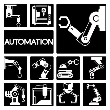 compute: automation icons Illustration