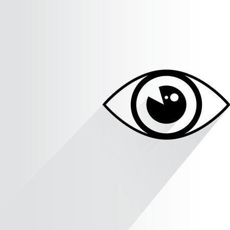 eye icon: eye, iris scan Illustration
