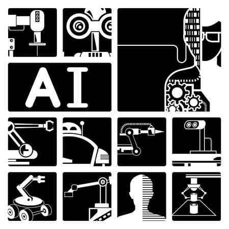 AI: Artificial intelligence Illustration
