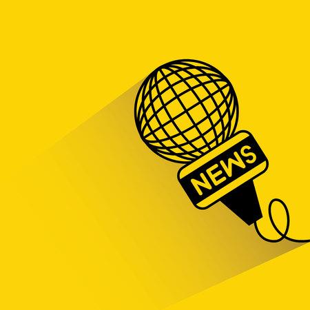 reporter: reporter microphone Illustration