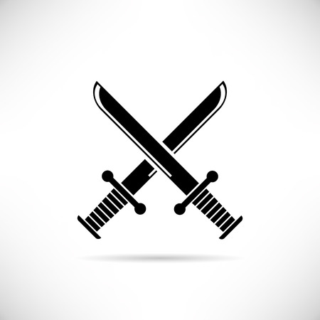 vector art: cross swords