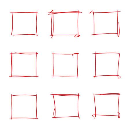the frame: red frame highlighters