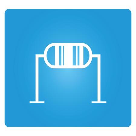 ohm symbol: resistor Illustration