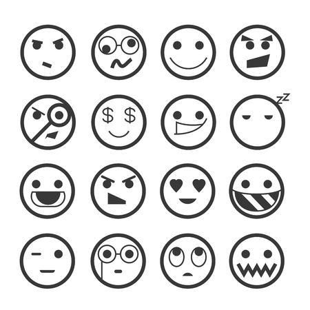 sad men: emoticons Illustration