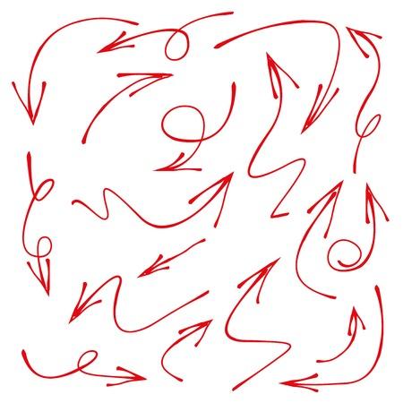 red hand: arrows Illustration