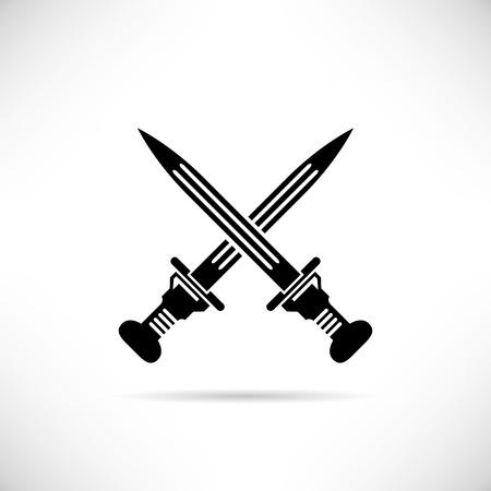 scimitar: cross swords