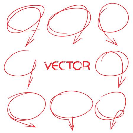 emphasis: hand drawn marker line Illustration