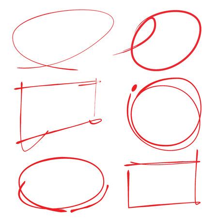 Elementi evidenziatore disegnati a mano