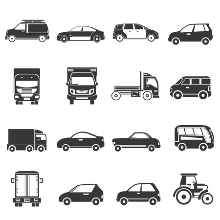 car tire: vehicle icons