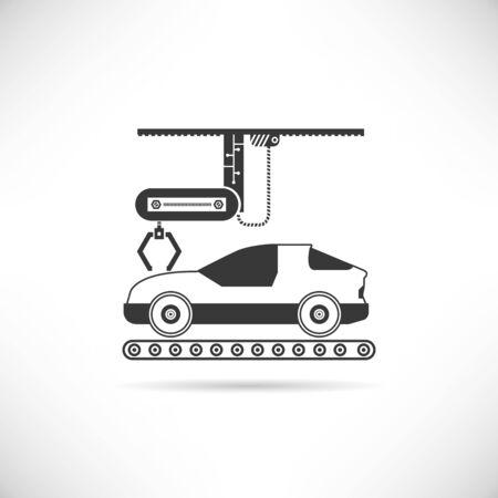 unrecognizable: car production icon