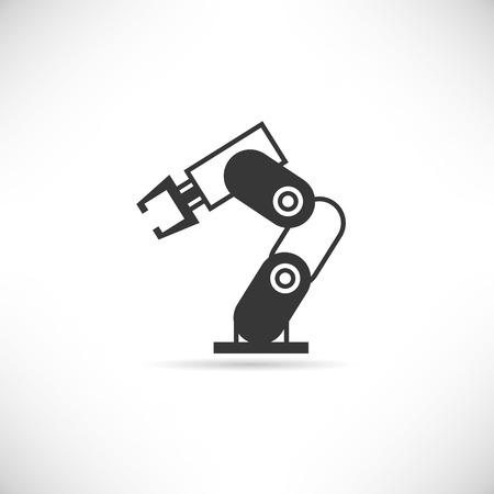 robotic arm icon Illustration