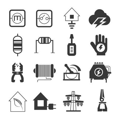 resistor: electricity icons Illustration