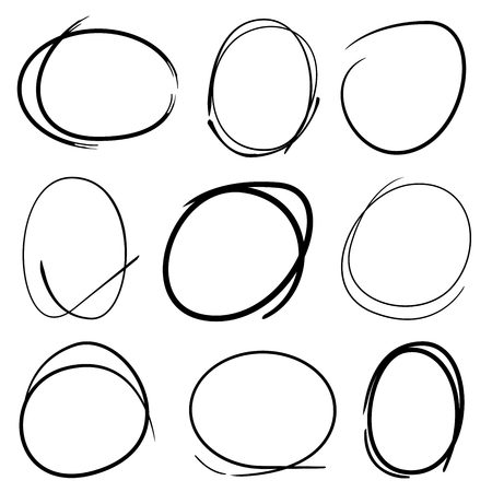 circle shape: highlight markers circle shape Illustration