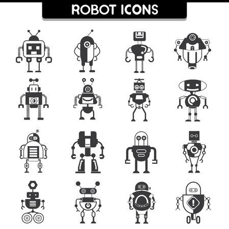 robot: iconos robot Vectores