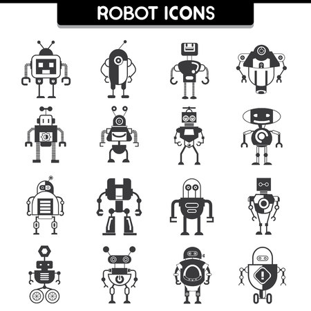 funny robot: robot icons