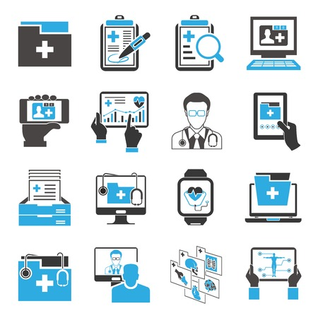 medical computer: medical data icons