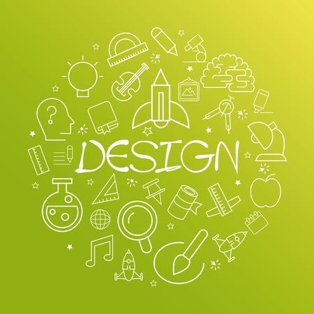 book vector: design concept