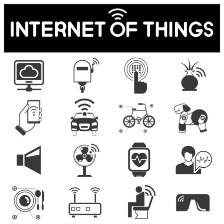 sensor: internet of things icons, smart home icons