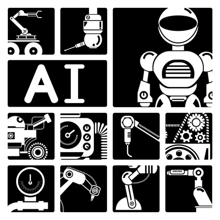 artificial intelligence: robot icons, Artificial intelligence