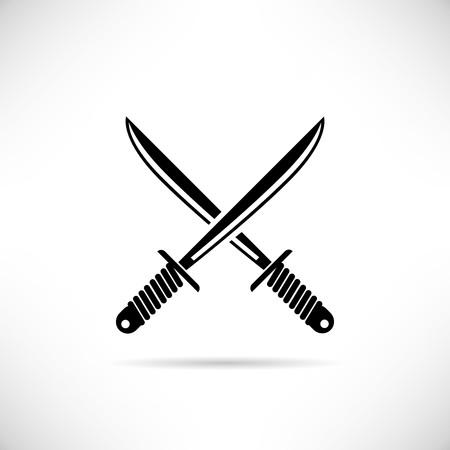 buckler: Swords vector illustration Illustration