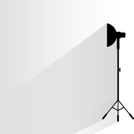 lámpara del estudio de Ilustración de vector