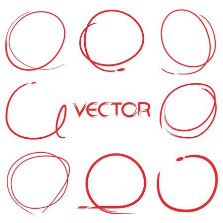 circl: hand drawn markers Illustration
