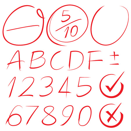 consecuencia de grado, los elementos de resaltado Ilustración de vector