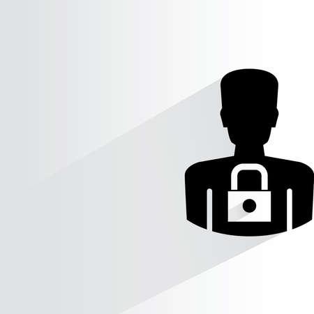 datos personales: icono de seguridad de los datos personales