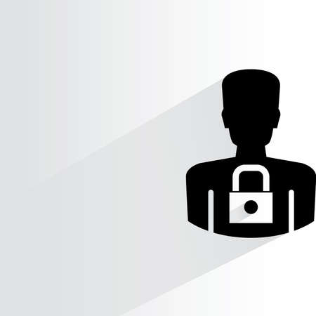 personal data: personal data security icon