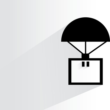 lading: parachute with box