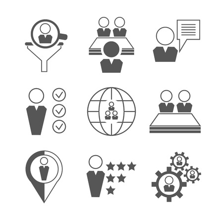 tendance: human resource and business icons