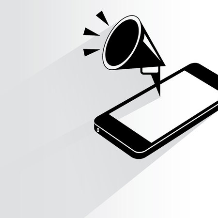 broadcast: megaphone Illustration