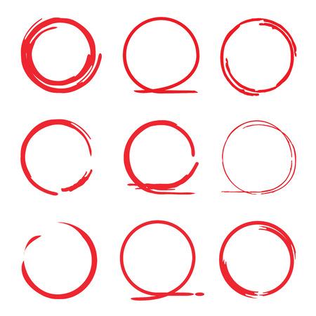 underscore: red highlighter circles