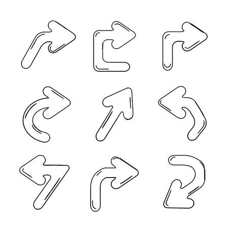 curly: arrows Illustration