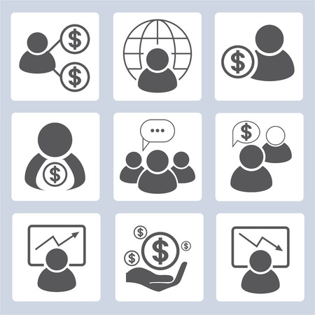 metier: business management icons Illustration