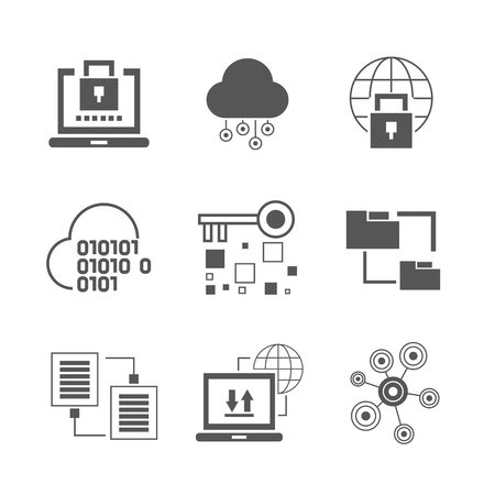 systematic: data analytics icons Illustration