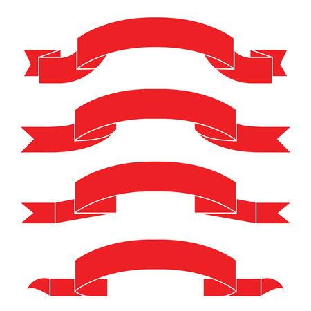 ribbons: red ribbons Illustration