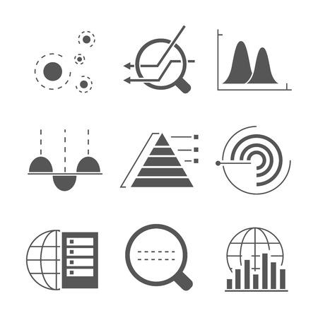 Icone di analisi dei dati Vettoriali