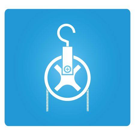 pulley: industrial hook
