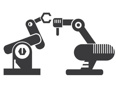 robotic: robotic arm, manufacturing line robot