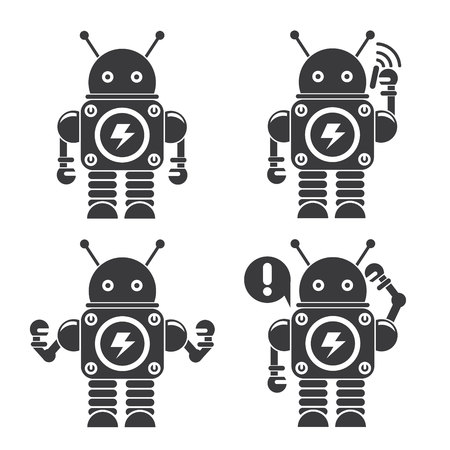 computer science: cute robot icons