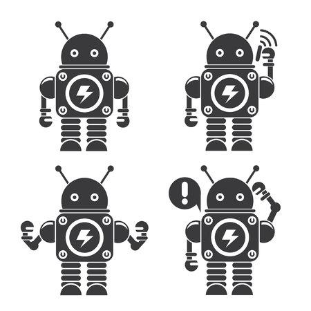 iconos lindo robot