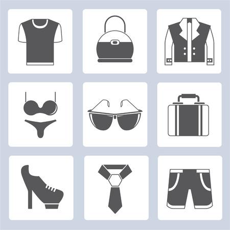 woman business suit: clothes icons